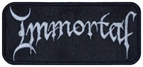 Immortal black metal band embroidered music patch
