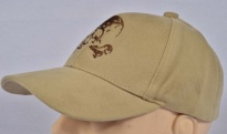 Skull with bones Cap Beige Embroidered