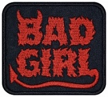 Bad girl machine embroidery patch #4