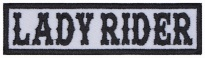 Lady rider Biker motorcycle embroidered strip patch #1