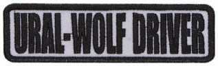 Ural wolf driver Biker motorcycle embroidered strip patch #1