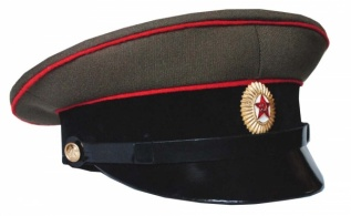 Soviet Army Tank / Artillery Forces Uniform Visor Hat 1958-1969 Replica