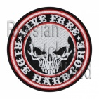 Harley-Davidson skull embroidered patch