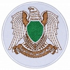 Libya coat of arms crest embroidered patch 1977—2011