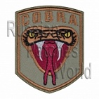 Cobra head snake airsoft embroidered patch olive