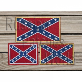 Confederate flag embroidered patch