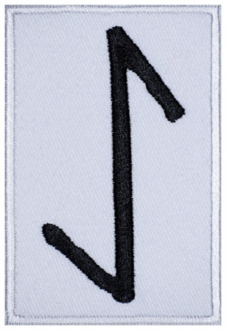Eihwaz Futhark Rune Germanic Alphabet Patch v2#2