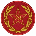 Red star hammer and sickle USSR patch v4