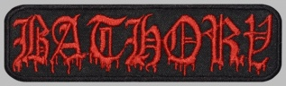 Bathory black metal thrash metal band embroidered music patch #3