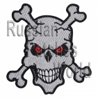 Skull with bones embroidered patch 1
