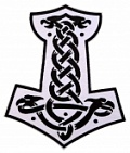 Celtic Thor's hammer jacket embroidered big patch #5