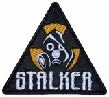 Gas mask Stalker airsoft game embroidered patch #1
