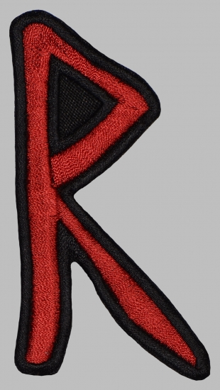 Raido Futhark Rune Germanic Alphabet Patch #1
