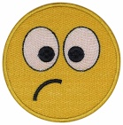 Smile Face smiley embroidered patch #7