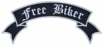 Free biker motorcycle back jacket embroidery strip patch #2