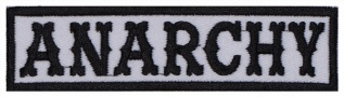 Anarchy Biker motorcycle embroidered strip patch #4