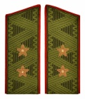 General-Lieutenant USSR uniform daily shoulder boards