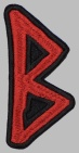 Berkana Futhark Rune Germanic Alphabet Patch #1