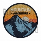 Mountain adventure embroidered patch